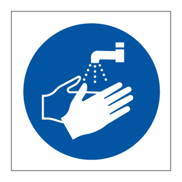 Hand wash only - Mandatory Signs