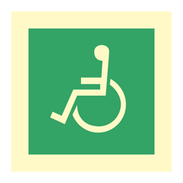 Wheel chair - Emergency Signs